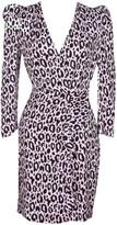 Maje Ripanta Leopard Print Mini Dress