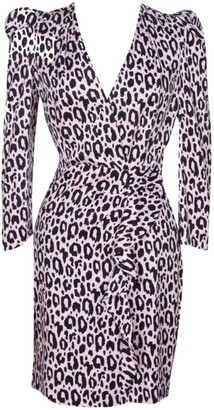 Maje Ripanta Leopard Print Mini Dress