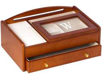 Bey-Berk Cherry Wood Valet Box Features A Storage Compartment