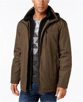 Calvin Klein Men's Big & Tall Hooded Fleece Lined Coat