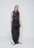 Rick Owens Black Coated Denim Elipse Dress