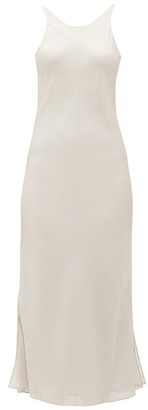 BEIGE Sir - Indre Silk-cloque Midi Dress - Womens