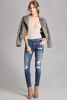Forever 21 FOREVER 21+ Distressed Low-Rise Jeans