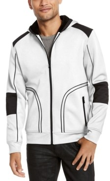 INC International Concepts Inc Men's Overbound Hooded Jacket, Created for Macy's