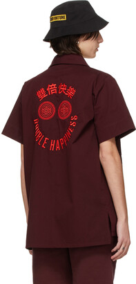 SSENSE WORKS SSENSE Exclusive 88rising Burgundy 'Double Happiness' Shirt