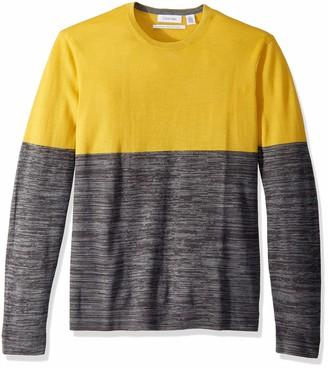 Calvin Klein CALVINKLEIN Men's Merino Crew Neck Sweater