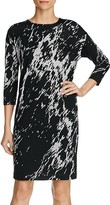 Three Dots Metallic Print Sheath Dress