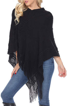 White Mark Fernanda Womens 3/4 Sleeve Poncho