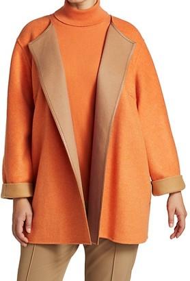 Lafayette 148 New York, Plus Size Reversible Royston Coat