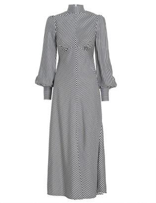 Zimmermann High Collar Midi Dress