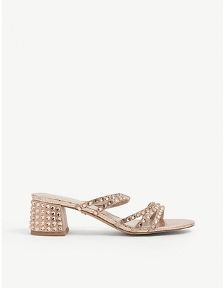 Carvela Glance faux leather studded block heels