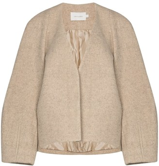 Low Classic Tailored Collarless Jacket