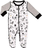 Baby Starters White & Black Alphabet Animals Footie - Infant
