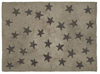 Lorena Canals Messy Stars Washable Rug (Linen/Dark Grey)