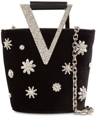 Roger Vivier Embellished Suede Bucket Bag