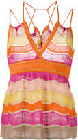 M Missoni - striped top - women -