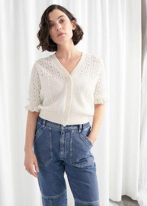 And other stories Eyelet Knit Cardigan
