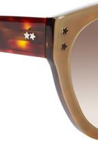 Cat Eye Cutler and Gross metallic acetate sunglasses
