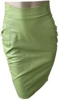 Ungaro Green Leather Skirt for Women