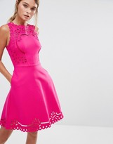 Ted Baker Verony Embroidered Cutwork Skater Dress