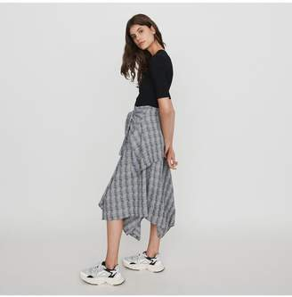 Maje Layered Dress With Scarf Skirt
