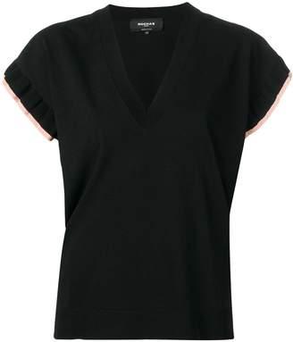 Rochas fine knit frill sleeve top