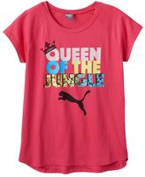 """Puma Girls 7-16 Queen of the Jungle"""" Graphic Tee"""