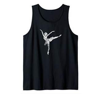 Distressed Womens Ballet Tee Tank Top