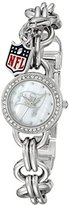 Game Time NFL Women's 10027060 Charm Analog Display Japanese Quartz Silver Watch