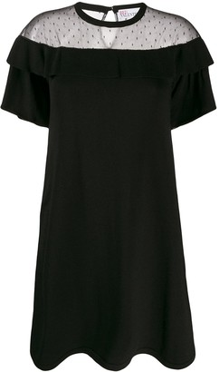 RED Valentino Sheer Panelled Dress