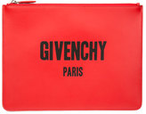 Givenchy Leather Logo Pouch, Red