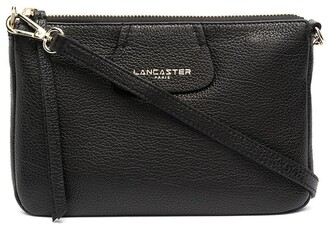 Lancaster Logo-Print Zip-Up Crossbody Bag