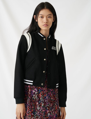 Maje American teddy-style jacket