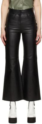 Stand Studio Black Leather Eudora Pants