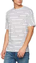Cheap Monday Men's Icon Edge Tee Tron Stripe T-Shirt