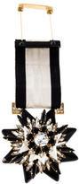 Shourouk Ribbon & Crystal Star Brooch