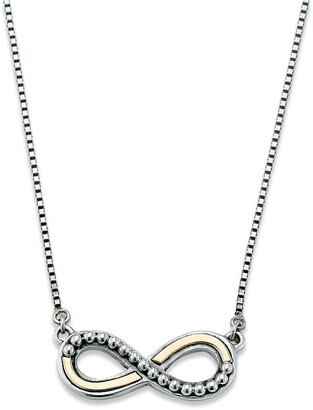 Samuel B. Sterling Silver & 18K Gold Infinity Pendant Necklace