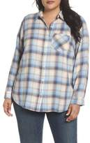 Caslon Plaid Linen Blend Shirt