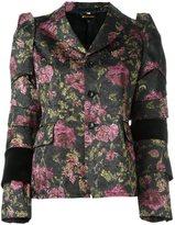 Comme des Garcons flowers jacquard jacket - women - Cotton/Polyester/Cupro - S