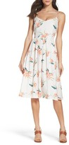 BB Dakota Women's Lila Floral Print Midi Dress