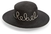 Eugenia Kim Women's Colette Rebel Boater Hat - Black