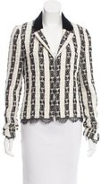 Chanel Tweed Lace-Trimmed Blazer