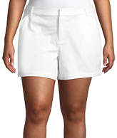 Boutique + + 5 Twill Soft Shorts - Plus
