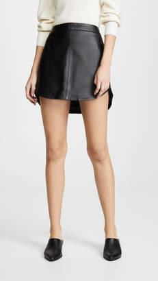 BB Dakota Conrad Leather Mini Skirt
