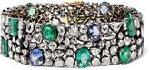 Amrapali 18-karat Gold, Silver And Multi-stone Bracelet