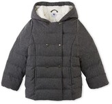 Petit Bateau Girls anorak in water-resistant flannel
