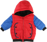 Little Marc Jacobs Baby Reversible Down Jacket with Detachable Sleeves