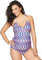 A Pea in the Pod Braided Strap Maternity Tankini Swimsuit