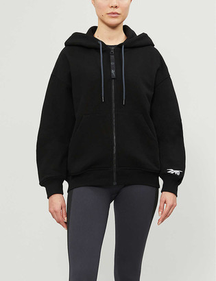 Reebok x Victoria Beckham Logo trim cotton-jersey hoody