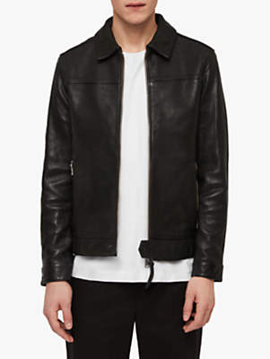 Callon Leather Jacket, Black